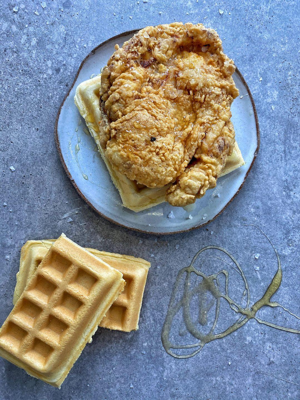 Buttermilk Chicken With waffles