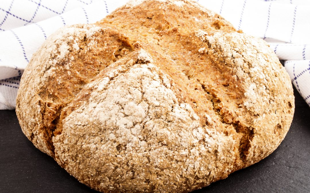 Vintage cheddar, white onion and chive soda bread