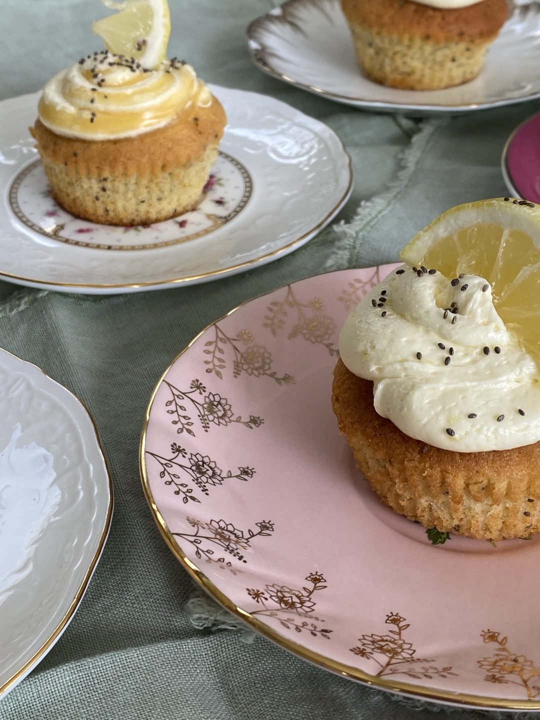 Lemon curd and chia seed muffins